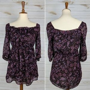 ✨2 for 10✨ Romy Floral Peasant Blouse with Pockets